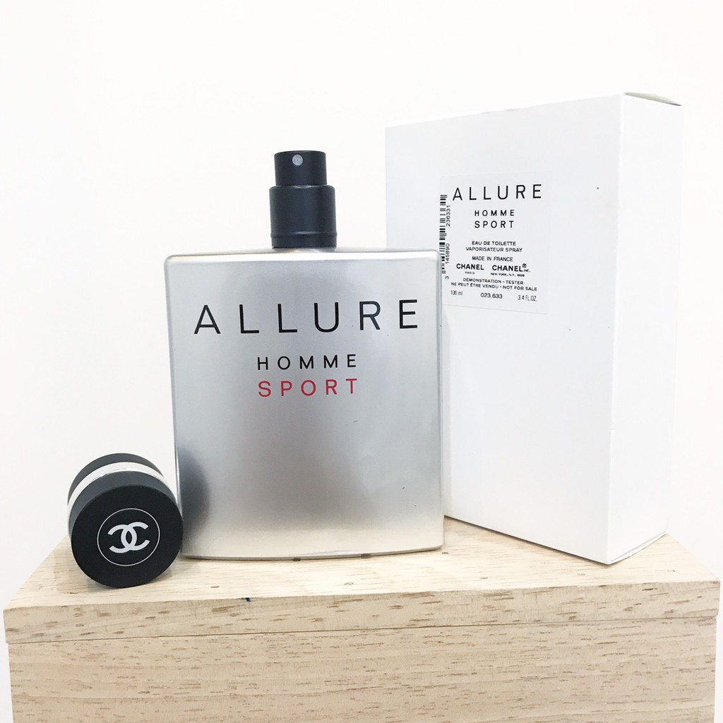 Chanel Allure Homme Sport EDT 100ML กล่องเทสเตอร์