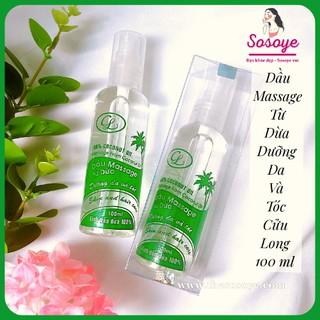 Dầu Massage Từ Dừa Cửu Long Dưỡng Da Và Tóc 100% Coconut Oil 100ml thumbnail