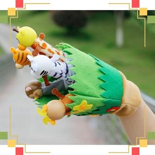 [Hot] Rối bàn tay vườn thú của bé siu cute giúp phát triển giác quan [Hàng Đẹp]