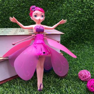 [NICE]Fairy Magical Princess Dolls Mini UFO RC Drone Infraed Light Induction Aircraft Flying Helicopter To