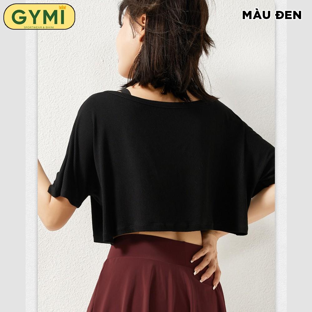 Mặc gì đẹp: Dẻo dai với Áo tập gym yoga nữ dáng rộng GYMI AT02 dáng croptop tanktop chất liệu thun gân co giãn 4 chiều thoải mái