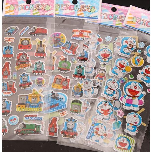 [Set 3 Tờ] Sticker Hoạt Hình Cho Bé - Sticker Trang Trí Sổ Nhiều Mẫu 21*7 cm Duashop