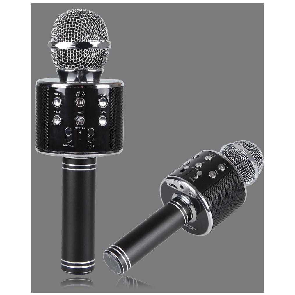 Micro hát karaoke Bluetooth 3in1 kèm loa WS-858(Âm thanh cực hay)