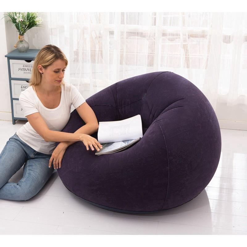 Flocking inflatable lazy sofa apartment home single sofa special leisure stool