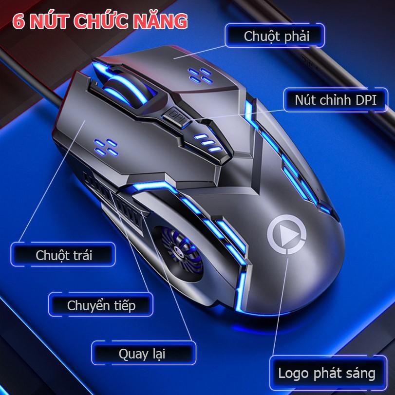 Chuột máy tính có dây YINDI-G5 hiệu ứng ánh sáng 7 màu , DPI 4 cấp độ phù hợp cho game thủ và văn phòng