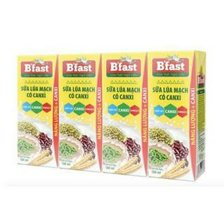 vỉ 4 hộp sữa lúa mạch B'fast 180ml