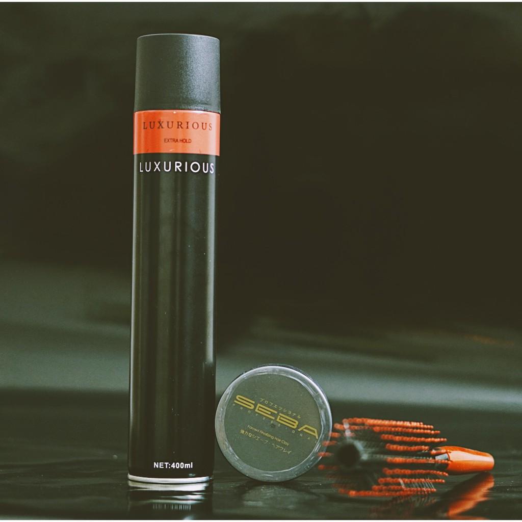 Sáp vuốt tóc SEBA JAPAN CHÍNH HÃNG+GÔM XỊT TÓC giữ nếp tặng lược /COMBO/ wax vuốt tóc/ keo vuốt tóc/ sap vuot toc/ wax