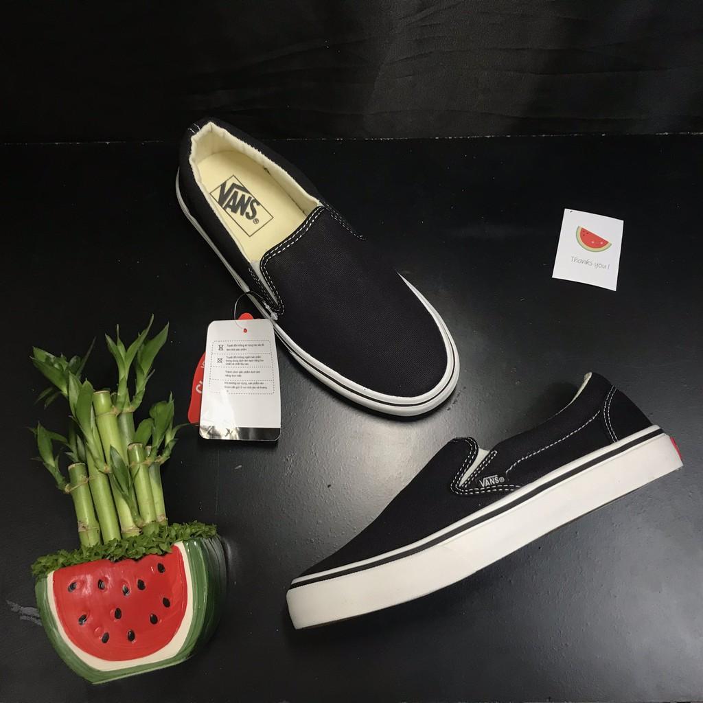 Giày Vans Slip On Black   Full Box - Ảnh, Clip thật  