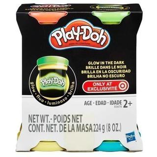 Bột nặn Play Doh 4 màu dạ quang B3670
