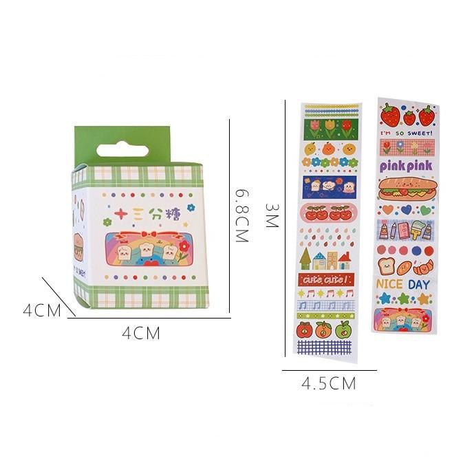 Cuộn Washi Tape Sticker Trang Trí Họa Tiết Cute