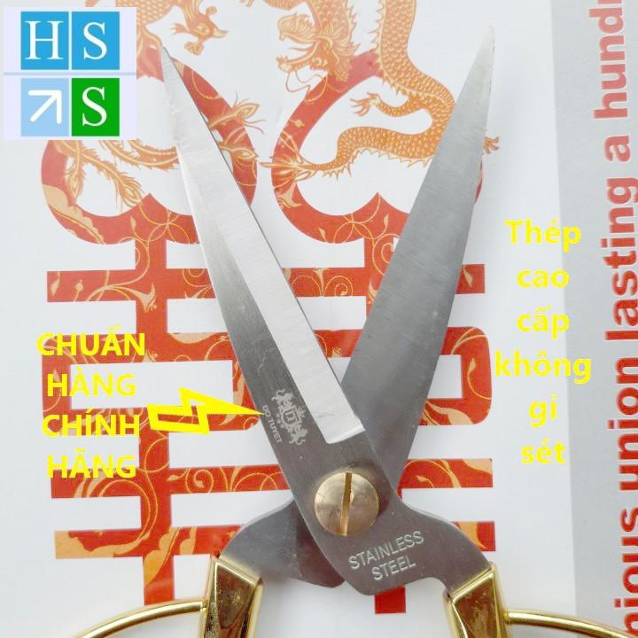 KÉO RỒNG VÀNG Đỗ Tuyết (Dài 19cm) kéo cắt gà thực phẩm bằng thép không gỉ sắc bén, chắc, bền, đẹp, an toàn vệ sinh