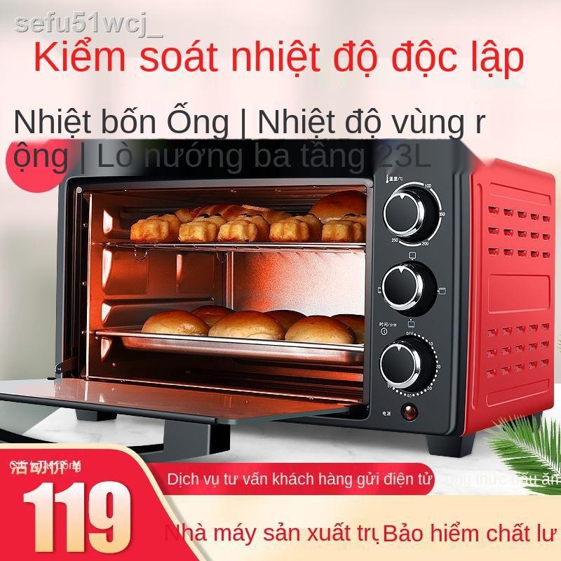 ❄❐▥Lò nướng điện gia dụng đa chức năng lò nướng mini thương hiệu Luo lò nướng bánh mì sóng lò nướng công suất lớn
