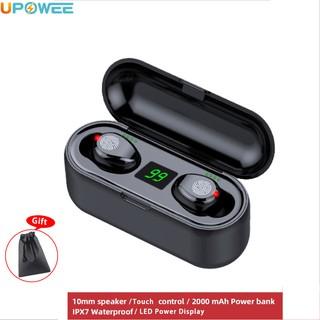 Tai Nghe Bluetooth 5.0 Nhét Tai Có Đèn Led Kèm Phụ Kiện