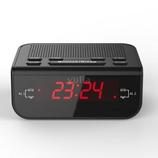Đồng hồ báo thức điện tử tích hợp đèn LED và màn hình hiển thị LCD