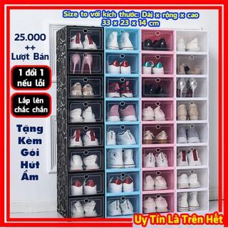Hộp Đựng Giày, Box Để Giầy Dép Nam Nữ Bằng Nhựa Cứng Mica Trong Suốt Đồ Cao Cấp Giá Rẻ, Đựng Được Cả Giày Cao Gót Nữ