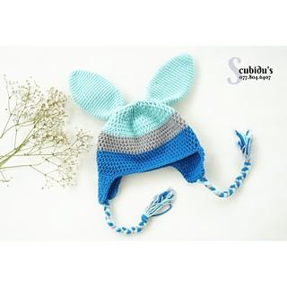 Nón len thỏ xanh