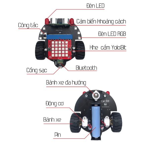Xe đồ chơi lập trình điều khiển từ xa Stem Car:Bit
