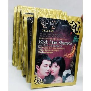 Dầu gội đen tóc Black hair shampoo gội là đen của Hàn quốc thumbnail
