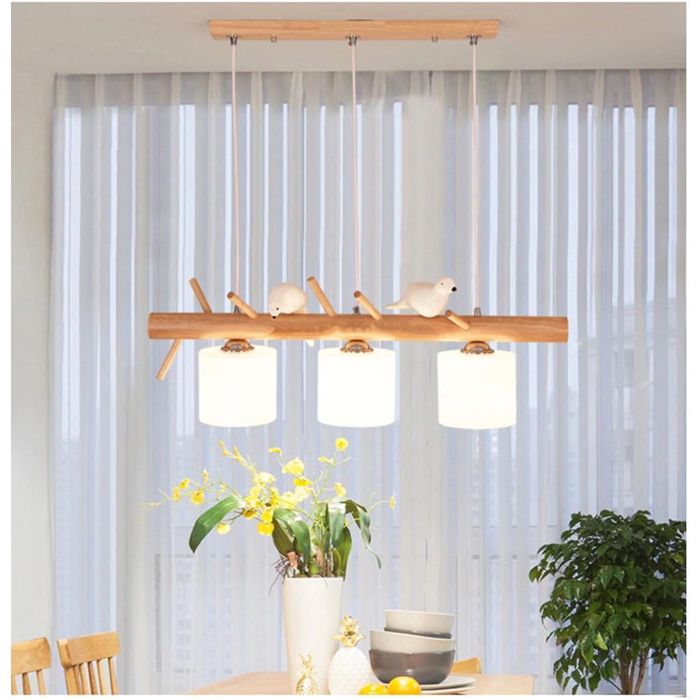 Đèn thả MONSKY DIEYSEN phong cách bắc âu hiện đại với 3 màu ánh sáng - kèm bóng LED chuyên dụng.