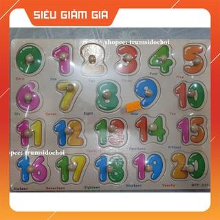 [CỰC HOT]- -HOT- Combo 3 bảng ghép gỗ có núm mẫu chữ cái,20 số và hình khối