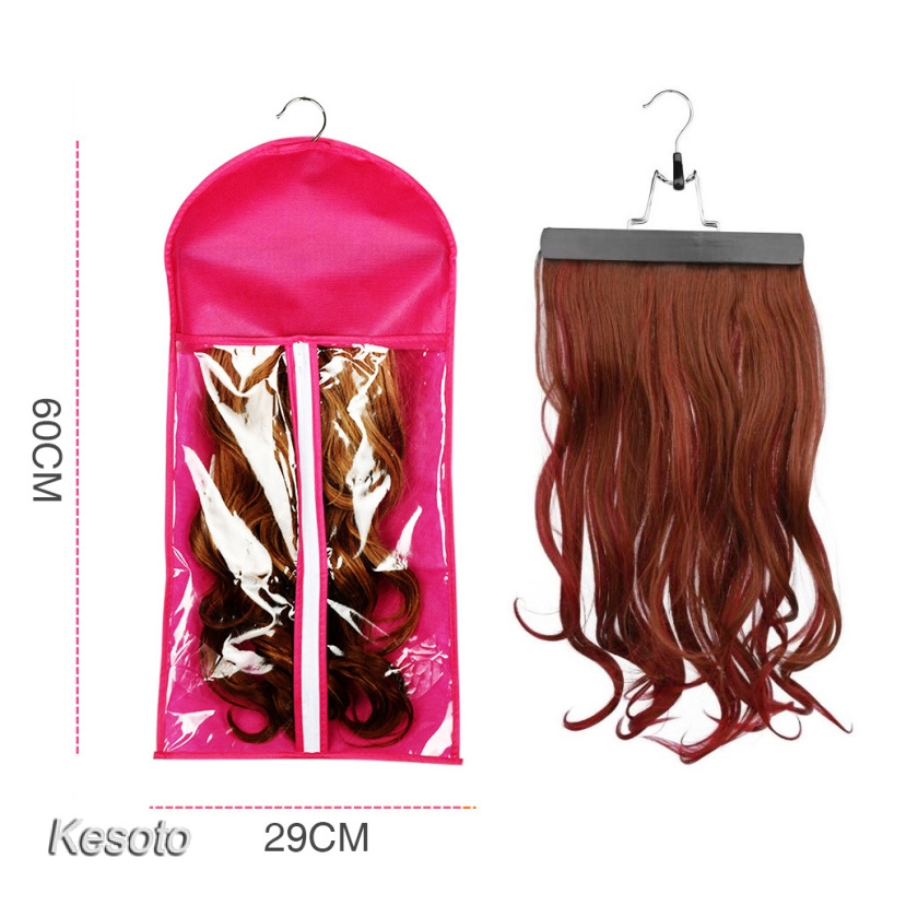 Wig Hangers Hair Extension Carrier Storage Case Wig Stands Dust Proof Bag