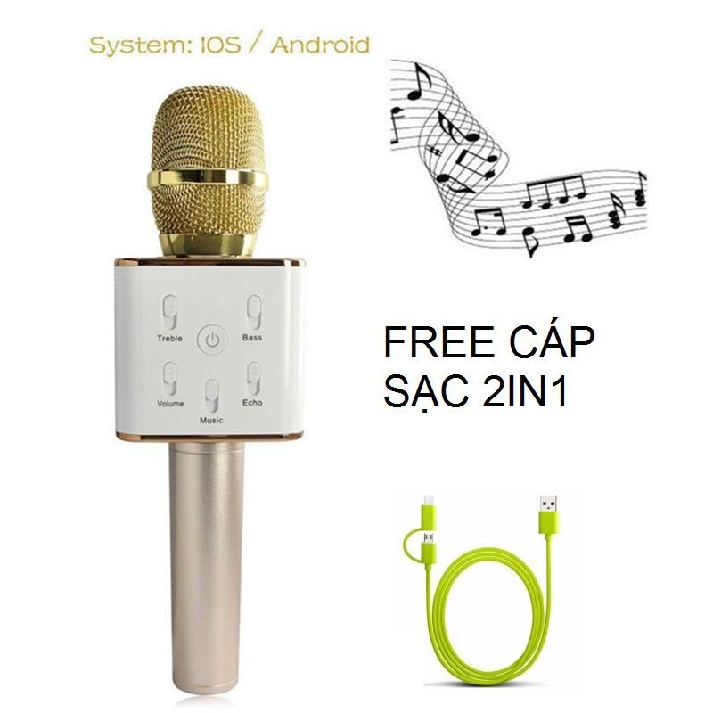 Micro Karaoke kèm Loa Bluetooth Q7 Tặng Cáp Sạc Đa Năng 2 In 1 - 2634250 , 603604274 , 322_603604274 , 399000 , Micro-Karaoke-kem-Loa-Bluetooth-Q7-Tang-Cap-Sac-Da-Nang-2-In-1-322_603604274 , shopee.vn , Micro Karaoke kèm Loa Bluetooth Q7 Tặng Cáp Sạc Đa Năng 2 In 1