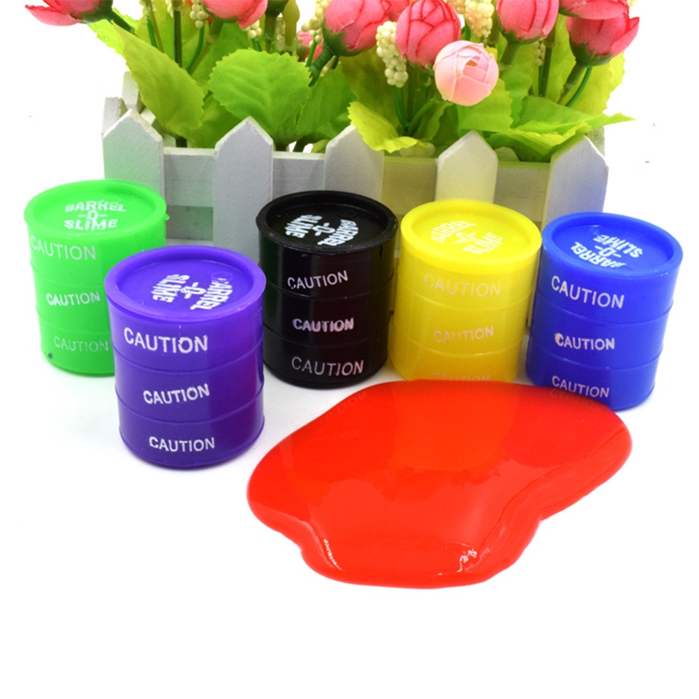Colorful Mini Silicone Paint  Fake Bucket For Holloween Party