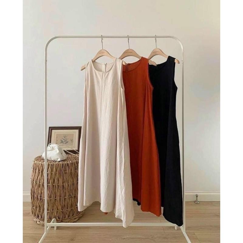 Váy đũi yếm suông trơn siêu hot 2021 ( MS#02 )