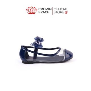 Giày Búp Bê Bé Gái Đi Học Đi Chơi Crown Space UK Ballerina Trẻ Em Cao Cấp CRUK3114 Nhẹ Êm Thoáng Size 25-32 2-14 Tuổi