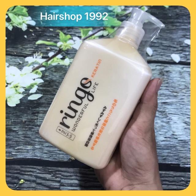 Kem ủ tóc - hấp tóc keratin ringoFree Shipphục hồi tóc khô xơ hư tổn 500ml