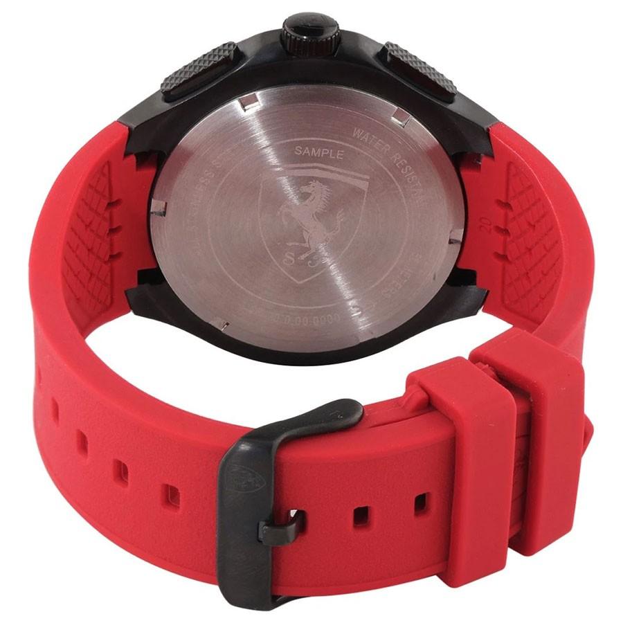 Đồng Hồ Ferrari Nam Dây Cao Su Pin-Quartz 0830727 - Mặt Đen (44mm)