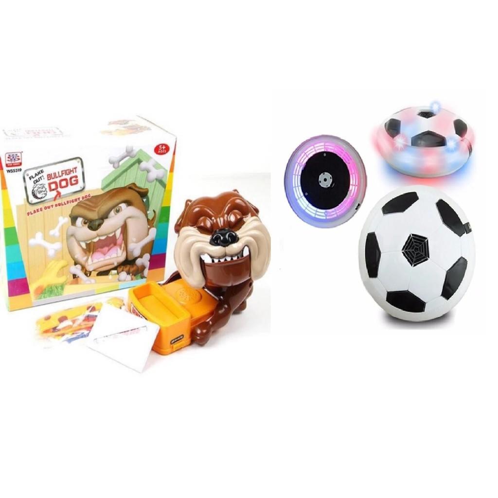 Combo bộ đồ chơi trộm xương chó dữ kèm bộ đồ chơi bóng đá trong nhà