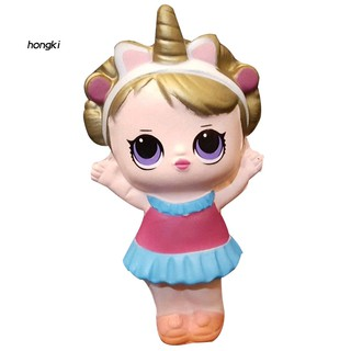 【HKM1】Cartoon Girl LOL Surprise Doll Soft Squishy Slow Rising Toy Stress Reliever Gift