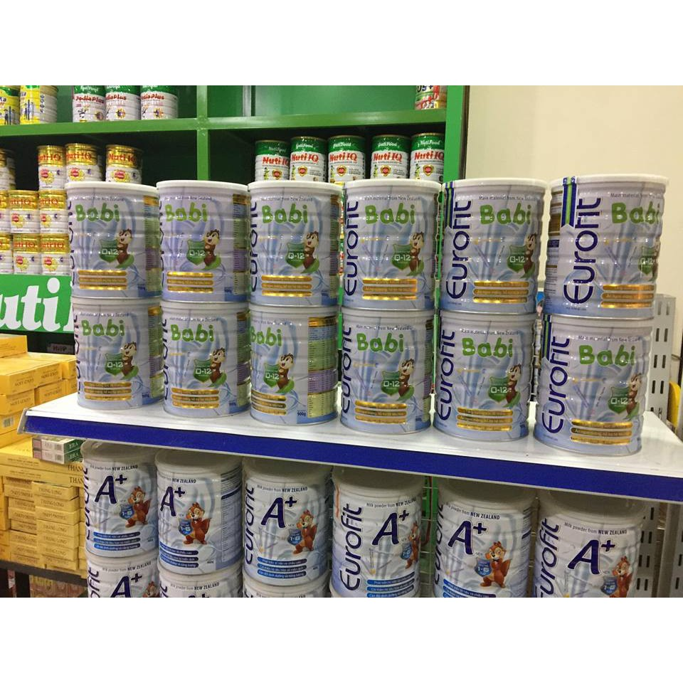 Sữa Eurofit Babi 400g/900g cho trẻ từ 0-12 tháng tuổi (có sẵn)