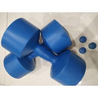 [Mã FASHIONFREE10 giảm 10K đơn 20K] Vỏ tạ nhựa tập Gym cao cấp 4kg chưa nhồi