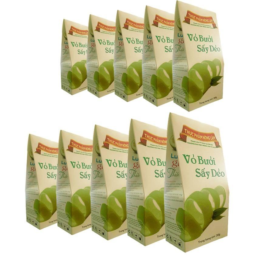 Bộ 10 hộp quà Tết vỏ bưởi sấy dẻo Nông Lâm 200g - 2638408 , 112986530 , 322_112986530 , 499000 , Bo-10-hop-qua-Tet-vo-buoi-say-deo-Nong-Lam-200g-322_112986530 , shopee.vn , Bộ 10 hộp quà Tết vỏ bưởi sấy dẻo Nông Lâm 200g