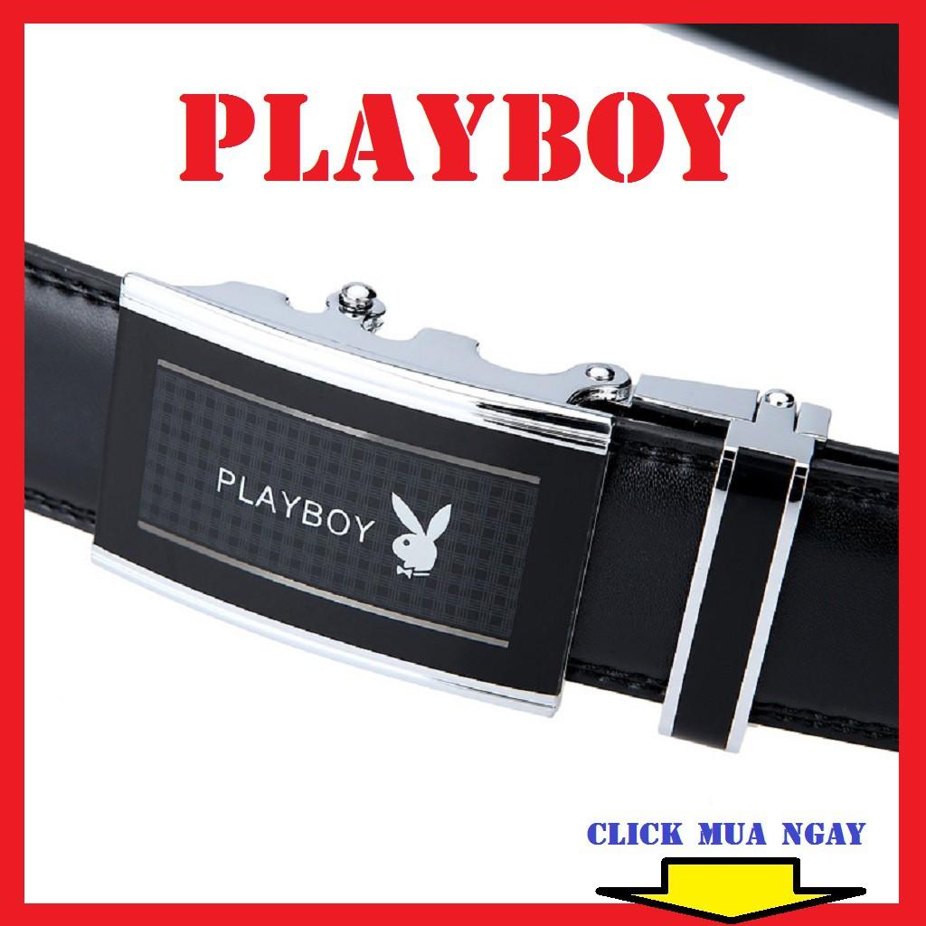 Thắt lưng nam Playboy da thật. ,