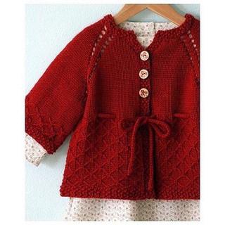 Áo Khoác Đan Đỏ Cách Điệu - Đồ Đông Cho bé gái - Made By Bunny