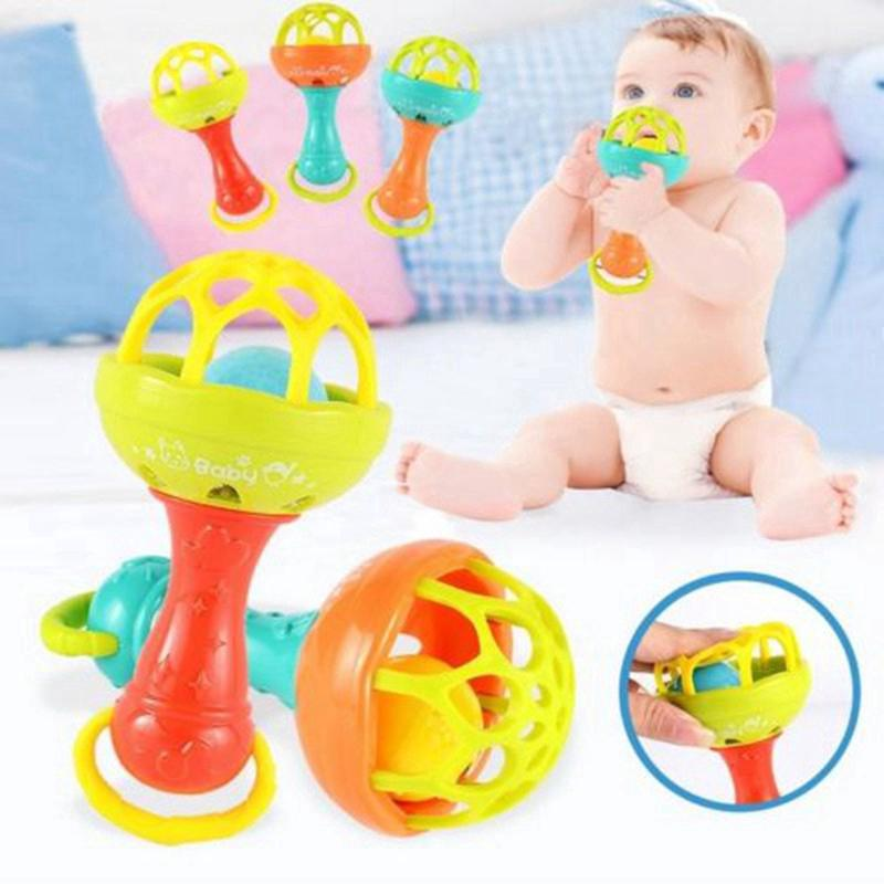 Baby Toy Hands Shake Bell Ring Rattles toys Babys Educational Teether Toy
