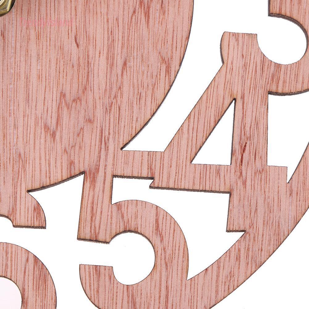 Đồng Hồ Treo Tường Hình Tròn Bằng Gỗ Tre Trang Trí Phòng Khách Phòng Ngủ
