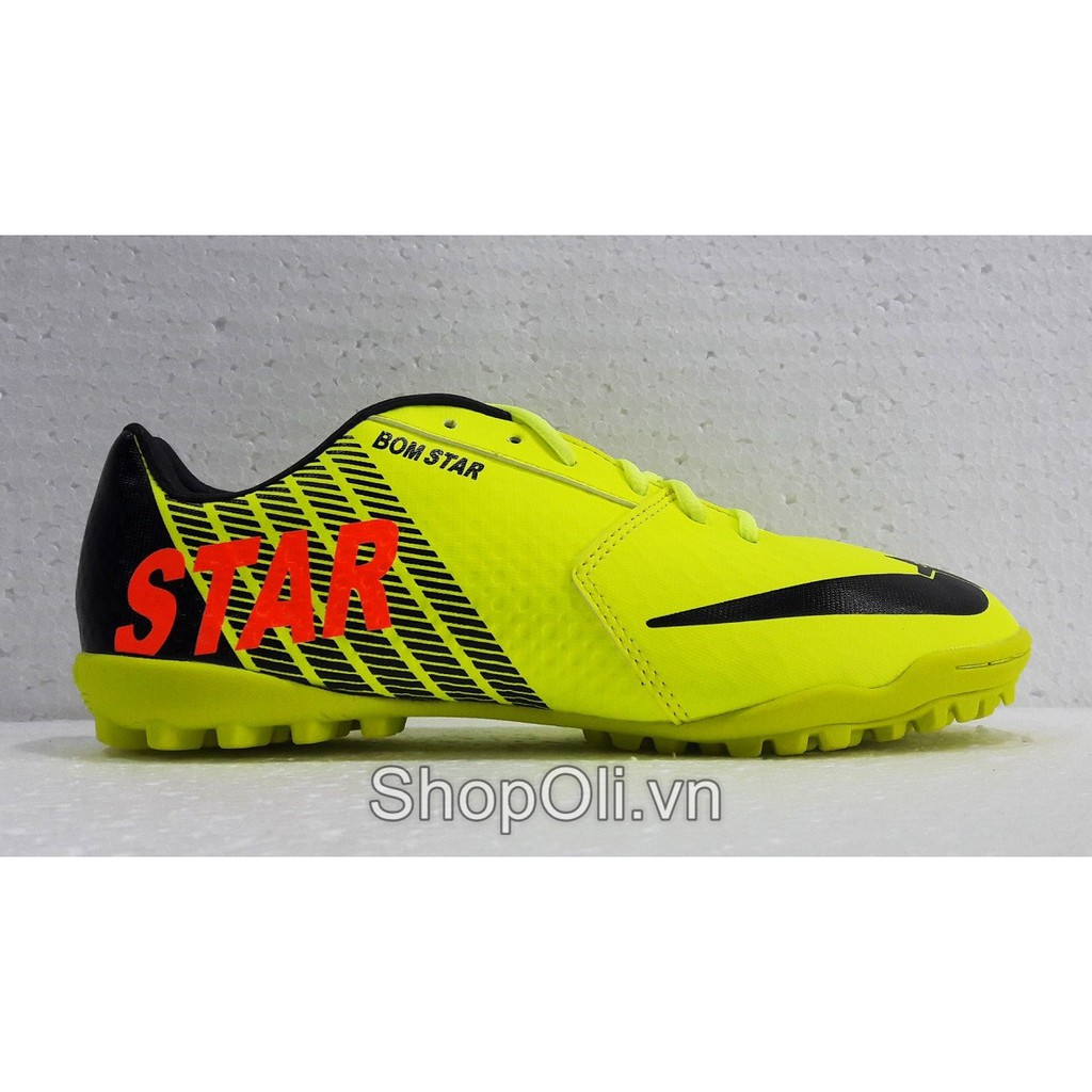 Giày đá bóng sân cỏ nhân tạo Star màu xanh neon