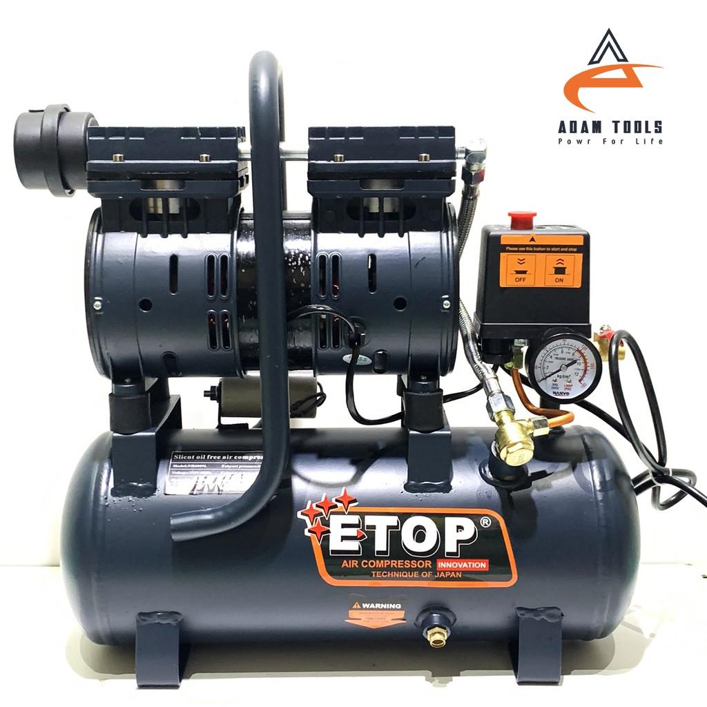 Máy nén khí sạch mini bình 9L ETOP - nén khí chống ồn