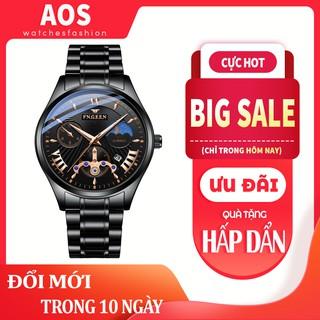 Đồng hồ nam chính hãng FNGEEN dây thép không rỉ, lên tay cực đẹp, giả cơ độc đáo (Tặng tháo mắc, vòng tỳ hưu, Mã AF03) thumbnail