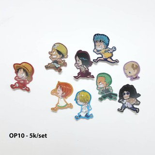 Sticker nhám onepiece (mẫu OP09-OP17) dán trang trí size nhỏ 3-5cm
