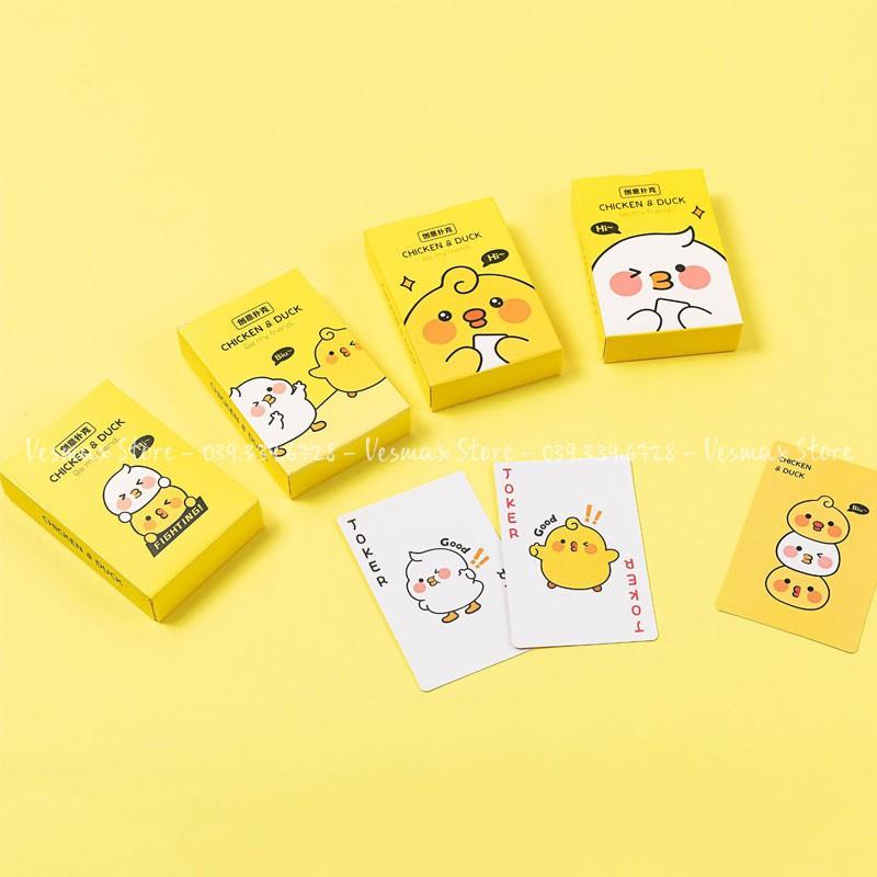 [Giá sỉ] 01 lốc gồm 12 bộ bài tây dễ thương, poker tú lơ khơ hoạt hình cute (mẫu mới cực đẹp)