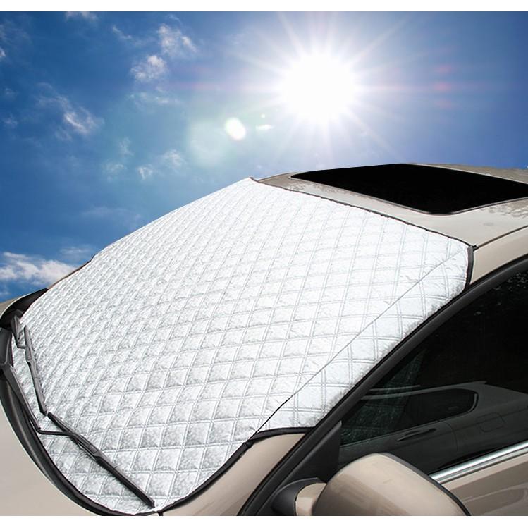 Tắm che nắng phủ toàn mặt kính trước xe ô tô phủ nhôm bạc cao cấp