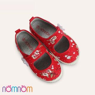 Giày búp bê cho bé gái quai dán NomNom EPG1914 Đỏ
