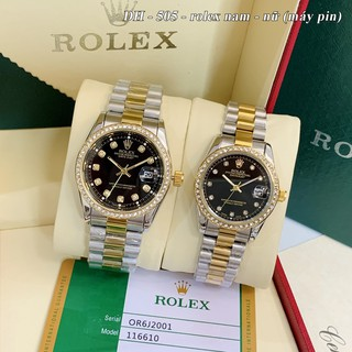 Đồng hồ nam nữ ROL - unisex viền đá dây kim loại chống nước - DH505 - Shốp53 Shop54