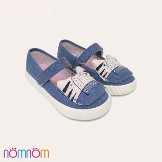 Giày búp bê cho bé gái NomNom Ng1602 thêu hình mèo