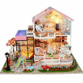 Kèm mica – Mô hình nhà gỗ búp bê dollhouse DIY – 13846 Sweet Words